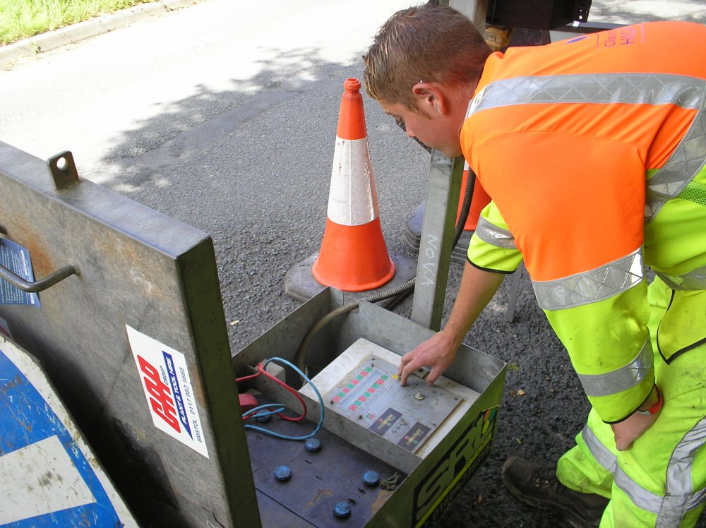 street works setting timings for traffic lights